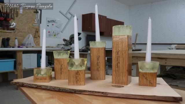 Efekt końcowy świeczników ze świeczkami