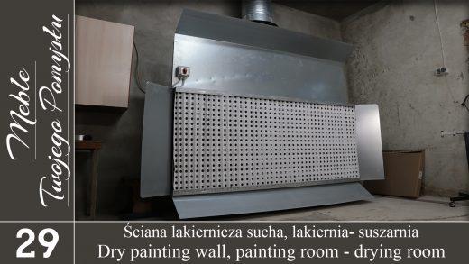 sucha ściana lakiernicza w lakierni i suszarni