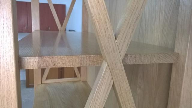Zastrzały drewniane regału