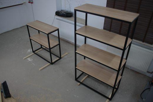 Półki z klejonki bukowej lakierowane lakierem altax