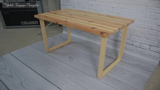 Renowacja stolika kawowego na tle ścianywyrówniarko grubościówka Felder AD741