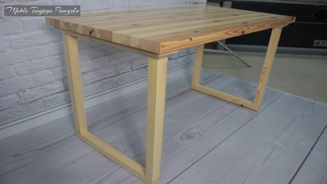 Renowacja starego stolika kawowego szlifierka taśmowa Felder FS722