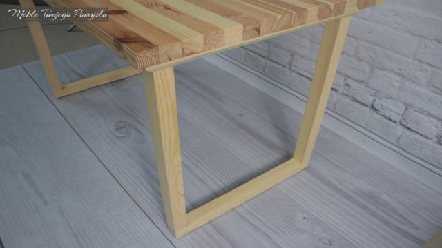 Biurko ze starego stolika kawowego