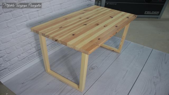 Biurko ze starego stolika kawowego wyrówniarko grubościówka Felder AD741