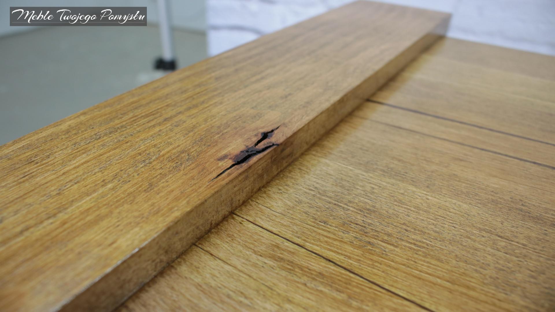 Wada drewna jako element wizualny