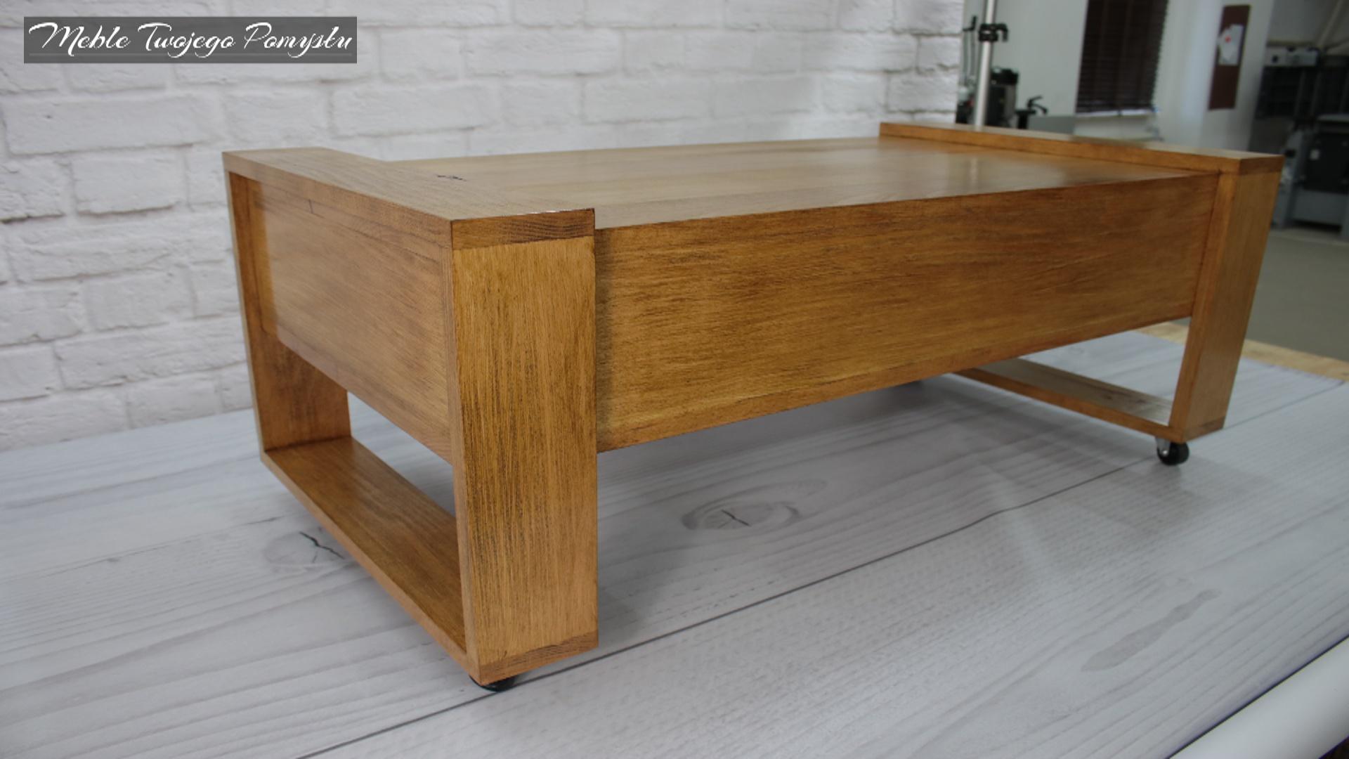 Zabudowany tył stolika kawowego