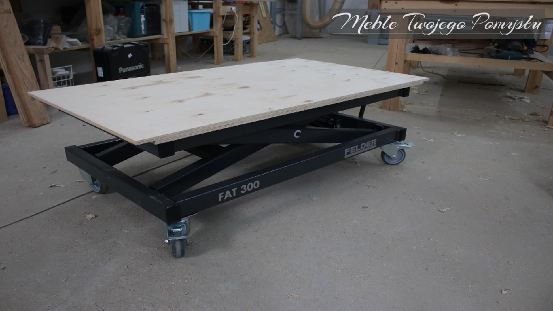 Regulowany na wysokość stół roboczy FAT 300 FELDER