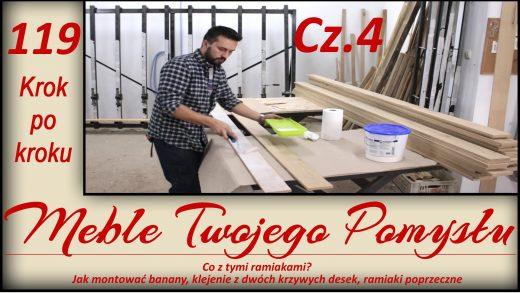 Projekt - Dębowe drzwi przesuwne do garderoby Cz. 4, Odcinek 119 - Cz.4 Co z tymi ramiakami? Jak montować banany, klejenie z dwóch krzywych desek, ramiaki poprzeczne / What about these rails? How to assemble bananas, gluing from two curves of boards, transverse stiles, frezy,kontr profilowy frez,ramiak,NDI20,k690s,meble twojego pomysłu,tarcza tnącza 14Z,rozcinanie,frez do połączeń klejonych,drzwi przesówne,ad741,maszyny,jak działa,stolarstwo,drewno,stolarnia,warsztat,felder,jak zrobić,meble,wood,woodworking,jak wykonać,how to make,krok po kroku,f700z,odciąg,darek stolarz,laguna,sevroll,nóż,piła taśmowa,fb610,techniaka,fryzy,wyrówniarka,grubościówka,frez,ramiaki poprzeczne,banany,łódkowanie deski,klejenie,krzywizny,kleiberit 303.2