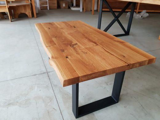 Dębowe blaty z oflisem na stoły i stoliki kawowe, Klasa rustic, mazowiecki i kopacki, meble twojego pomysłu, klejonki drewniane
