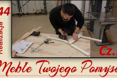 Jak zrobić drewniane krzesło, wycinanie i frezowanie nóg z jesionu / how to make an ash chair, pierścień dystansowy, frezarka dolnowrzecionowa