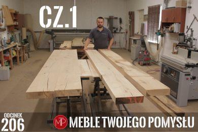 Odcinek 206 - cz1 Stół rustykalny z szerokich fosztów dębowych z drewnianymi nogami, przygotowanie blatów , Rustic table made of wide oak facets with wooden legs, preparation of table tops, mebletwojegopomyslu,mtp,wood,woodworking,diy,jak zrobić,k690s,meble twojego pomysłu,drewno,felder,do it yourself,how make,how to,jak wykonać,zrób to sam,woodstyle,dom,salon,diy ideas,home,hammer,drewniane projekty,meble,lite meble,prace w drewnie,prace ręczne,stolarskie triki,kleiberit,klejonka,diy projects,nogi,zacinanie,stół,blat,steblo,prasa stolarska,jak zrobić klejonkę,foszty,blat rustykalny,szeroka lamela,cięcię,grubościówka,ad741,rustykalny,woodstyl