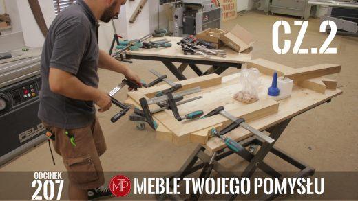 Odcinek 207 cz 2 - Jak zrobić drewniane zacinane pod kątem nogi - Stół rustykalny z szerokich fosztów dębowych , How to make wooden legs cut at an angle - Rustic table made of wide oak facets,, mebletwojegopomyslu,mtp,wood,woodworking,diy,jak zrobić,k690s,meble twojego pomysłu,drewno,felder,do it yourself,how make,how to,jak wykonać,zrób to sam,woodstyle,dom,salon,diy ideas,home,hammer,drewniane projekty,meble,prace w drewnie,prace ręczne,stolarskie triki,kleiberit,klejonka,diy projects,nogi,zacinanie,stół,blat,steblo,prasa stolarska,jak zrobić klejonkę,foszty,blat rustykalny,szeroka lamela,cięcię,grubościówka,ad741,rustykalny,woodstyl,mufa,wolfcraft