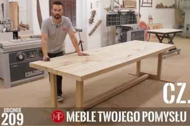Odcinek 209 cz. 4 - Stół z szerokich fosztów dębowych - montaż wzmocnień w blatach, szlifowanie i składanie całości , A table made of wide oak facets - mounting reinforcements in the tops, grinding and assembling the whole, mebletwojegopomyslu,mtp,wood,woodworking,diy,jak zrobić,k690s,meble twojego pomysłu,drewno,felder,do it yourself,how make,how to,jak wykonać,zrób to sam,woodstyle,dom,salon,diy ideas,home,hammer,drewniane projekty,meble,prace w drewnie,prace ręczne,stolarskie triki,kleiberit,klejonka,diy projects,nogi,stół,blat,steblo,jak zrobić klejonkę,foszty,blat rustykalny,szeroka lamela,cięcię,ad741,rustykalny,woodstyl,wolfcraft,frezowanie,makita,wzmocnienia,fazowanie,teownik, fat300