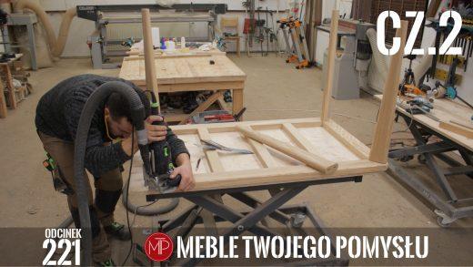 Odcinek 221 - cz.2 Dębowy stół do jadalni z płytką na blacie, przygotowanie ramy i klejenie nóg , Oak dining table with a tile on the top, preparing the frame and gluing the legs, mebletwojegopomyslu,mtp,wood,woodworking,diy,jak zrobić,k690s,meble twojego pomysłu,drewno,felder,carpenter,do it yourself,how make,jak wykonać,zrób to sam,woodstyle,dom,diy ideas,home,hammer,drewniane projekty,meble,lite meble,prace w drewnie,pomysł na,prace ręczne,stolarskie triki,kleiberit,domino,klejonka,diy projects,korpus,festool,dąb,steblo,blat z płytką,drewno i płytka,rama,nogi,ściski śrubowe,df500,kołki,frezowanie,kemichal,stół do jadalni,olejowosk