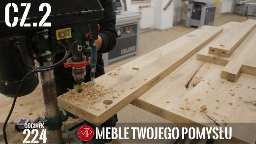 Odcinek 224 - cz.2 Lewitujące łóżko drewniane, dąb rustic, nawiercanie połączeń, szpachlowanie ubytków , Levitating wooden bed, rustic oak, drilling joints, filling losses, mebletwojegopomyslu,mtp,wood,woodworking,diy,jak zrobić,k690s,meble twojego pomysłu,drewno,felder,carpenter,do it yourself,how make,jak wykonać,zrób to sam,woodstyle,diy ideas,hammer,drewniane projekty,meble,lite meble,prace w drewnie,pomysł na,prace ręczne,stolarskie triki,domino,klejonka,diy projects,dąb,steblo,rama,wezgłowie,zagłowie,łóżko,lewitujące łóżko,dąb rustic,sęki,sypialnia,materac,blat rustic,szafki nocne,stelaż do łóżka,prasa do klejenia,fryza
