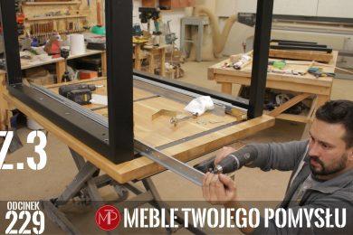 Odcinek 229 - Cz.3 Rozkładany stół z dostawkami dąb rustic, montaż nóg stalowych i prowadnic długość 130 do 300cm , Extendable table with extensions rustic oak, installation of steel legs and guides, length 130 to 300 cm, mebletwojegopomyslu,mtp,wood,woodworking,diy,jak zrobić,k690s,meble twojego pomysłu,drewno,felder,carpenter,do it yourself,how make,jak wykonać,zrób to sam,woodstyle,diy ideas,home,hammer,drewniane projekty,meble,lite meble,prace w drewnie,pomysł na,prace ręczne,klejonka,diy projects,dąb,steblo,blat,fat300,piła tarczowa,prasa pneumatyczna,dostawki,dab rustic,rozkładany stół,nogi stalowe,klejenie,stół z dostawkami,blat z szeroką listwą,prowadnice,pottker
